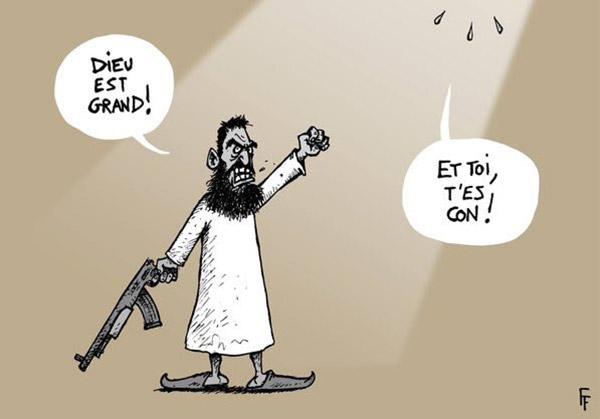 Caricature sur les attentats de Paris
