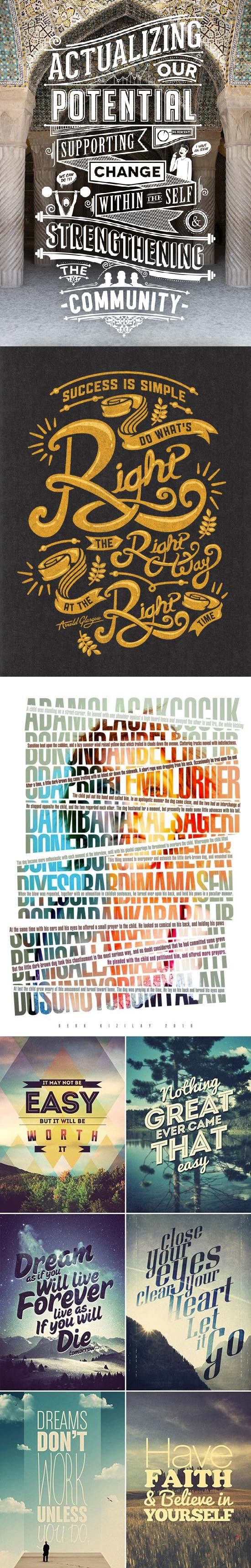 Montages typographiques ressources typo