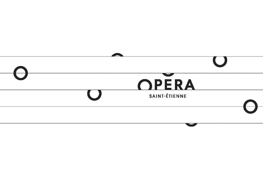 Logo Opéra sur idée de partition