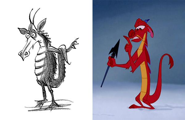 Mushu le dragon de Mulan